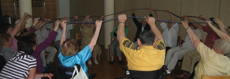 Gemeinschaft am Seil